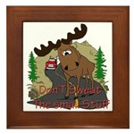 Moose humor Framed Tile