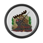 Moose humor Large Wall Clock