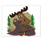 Moose humor Small Poster