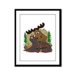 Moose humor Framed Panel Print