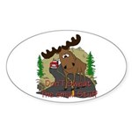 Moose humor Sticker (Oval 10 pk)