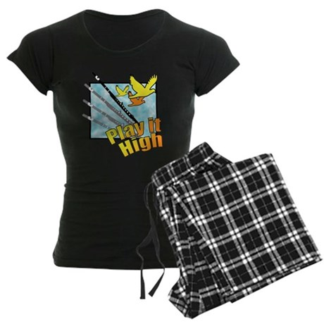 "Flute ""Play it High"" Women's Dark Pajamas"