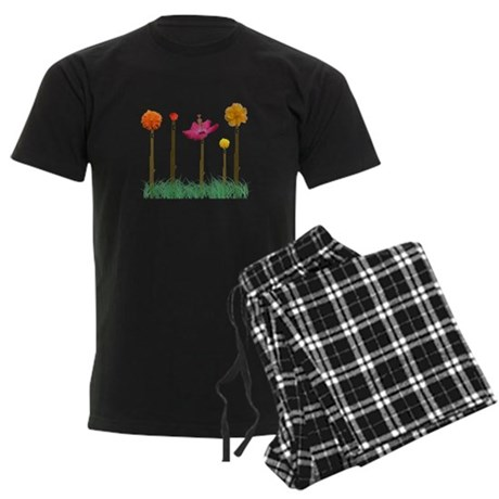 Flute Flowers Men's Dark Pajamas