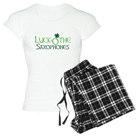 Luck 'O the Saxophones Women's Light Pajamas