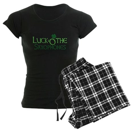 Luck 'O the Saxophones Women's Dark Pajamas