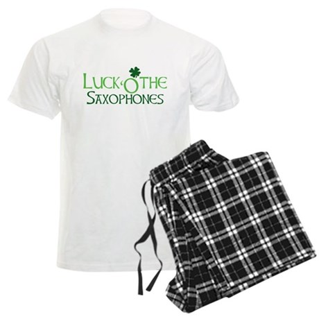 Luck 'O the Saxophones Men's Light Pajamas