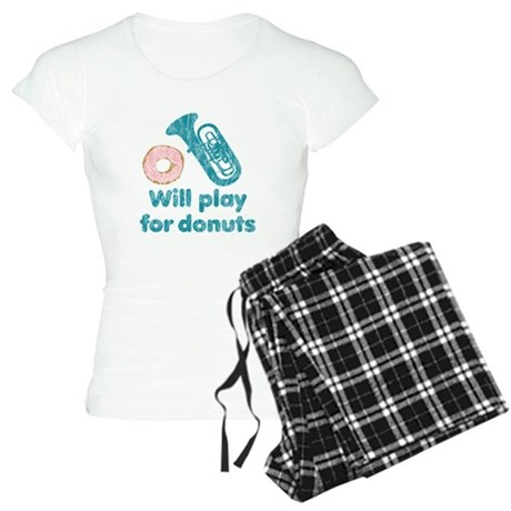 Will Play Tuba for Donuts Women's Light Pajamas