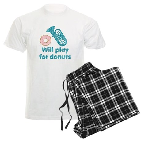 Will Play Tuba for Donuts Men's Light Pajamas