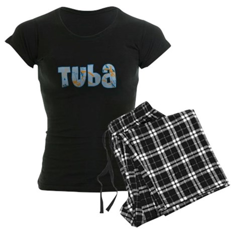 Patterned Tuba Women's Dark Pajamas
