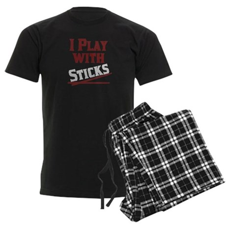 I Play With Sticks Men's Dark Pajamas