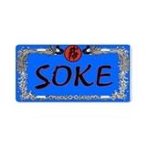 Soke License Plate blue