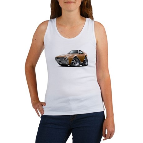 1968-69 AMX Brown Car Women's Tank Top