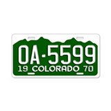 OA-5599 Vanishing Point Aluminum License Plate