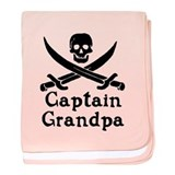 Captain Grandpa baby blanket