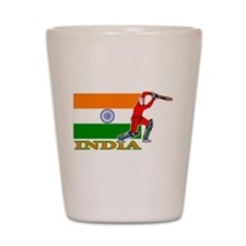 India Cricket Player Shot Glass