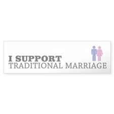 I Support Traditional Marriage Bumper Sticker 50pk