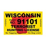Wisconsin Terrorist Hunting L 38.5 x 24.5 Wall Pee