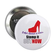 "Stomp out Crohn's & Colitis 2.25"" Button"