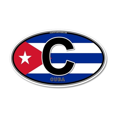 Cuba Intl Oval (colors) 22x14 Oval Wall Peel