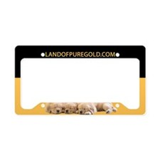 Golden Retriever Pups License Plate Holder