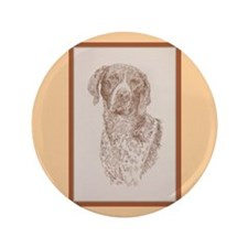 "German Shorthaired Pointer 3.5"" Button"