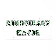 Conspiracy Major Aluminum License Plate