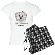 Captioned Maltese Pajamas