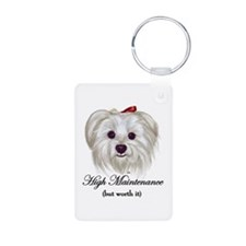 Captioned Maltese Keychains