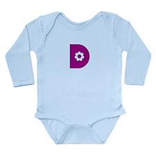 Letter D Long Sleeve Infant Bodysuit
