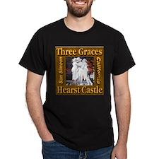 Three Graces Golden Sepia Black T-Shirt