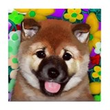 SHIBA INU DOG Pup Tile Coaster