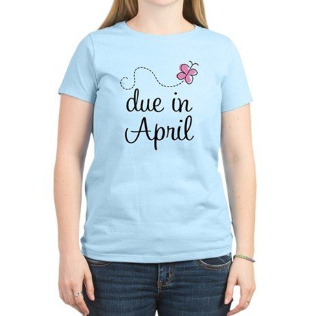 Due In April Butterfly Women's Light T-Shirt