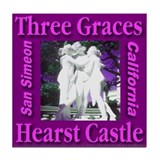 Three Graces Purple Passion Tile Coaster
