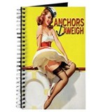 Anchors Aweigh Navy Pinup Girl Journal