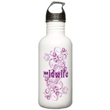 Midwife Floral Swirl Water Bottle