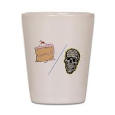 Cake or Death Shot Glass