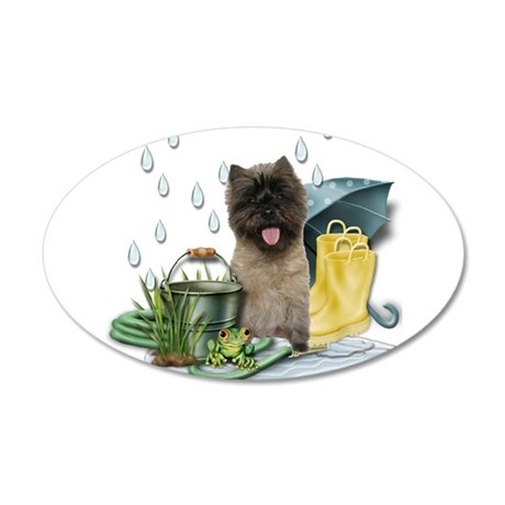 Cairn Terrier 35x21 Oval Wall Decal