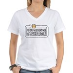 Beer Makes Me Awesome Women's V-Neck T-Shirt