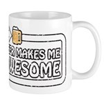 Beer Makes Me Awesome Mug