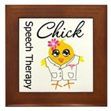 Speech Therapy Chick Framed Tile