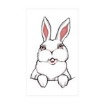 Easter Bunny Sticker (Rectangle 50 pk)