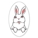 Easter Bunny Sticker (Oval 10 pk)