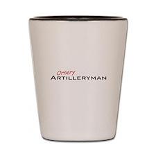 Ornery Artilleryman Shot Glass