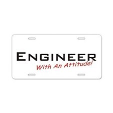 Engineer / Attitude Aluminum License Plate