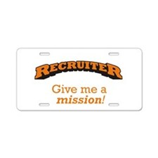 Recruiter - Mission Aluminum License Plate