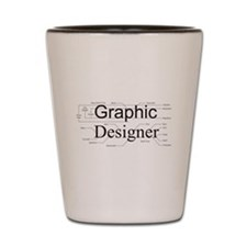 Graphic Designer Shot Glass