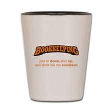 Bookkeeping-Numbers Shot Glass