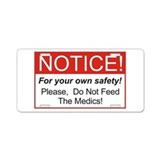 Notice / Medics Aluminum License Plate