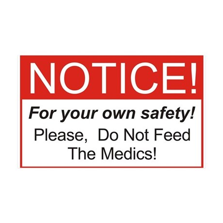 Notice / Medics 38.5 x 24.5 Wall Peel
