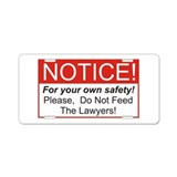 Notice / Lawyers Aluminum License Plate